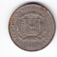 1986 Dominican Republic 25 Centavos Coin - Dominicaine