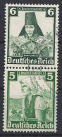 Germany 1935  Volkstrachten (o) Mi. S 233 - Se-Tenant