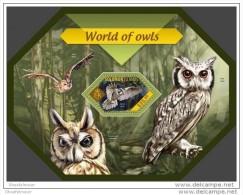 SOLOMON ISLAND 2014 ** S/S Owls Eulen Hiboux Buhos A1439 - Eulenvögel