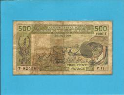 TOGO - 500 Francs - 1984 - Sign. 18 - Pick 806T.f - Banque Centrale Des États De L´ Afrique De L´ Ouest - Togo