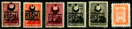Turquie Scott N°O24b.27.23A.38.39.63.neufs ** - Official Stamps