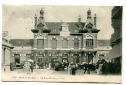 CPA  62  :   BERCK  La Gare Animée  VOIR   DESCRIPTIF  §§§ - Berck