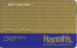 Harrah´s Casino Reno - Lake Tahoe, NV - 7th Issue Slot Card - With Joliet Listed - Casino Cards