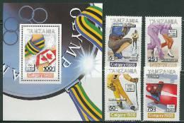 Tanzania 1988 Olympic Games Calgary Set Of 4 + S/s MNH - Winter 1988: Calgary