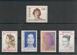 MONACO  Années 1995/2001 Princesses  N° Y/T : 19484-2037-2136-2275-2305* * - Collections, Lots & Series