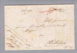 Heimat LU Münster 1840-03-18 Langstempel Nach Willisau - Schweiz