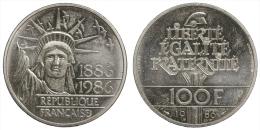 FRANCIA/FRANCE 100 FRANCS 1986 (Centennial Statue Liberty) PIEDFORT SILVER/ARGENTO #761 - France