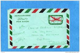 AEROGRAMME-postes Afghanes-6afs Pour Françe-1964-bien écrit A Circulé Mais Non Oblitéré - Afghanistan