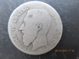 Belgique, Léopold II, 50 C 1886,légende Flamande, B - 06. 50 Centimes