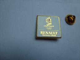 Arthus Bertrand  , Auto Renault , Jeux Olympiques Albertville 92 , Non Signé - Arthus Bertrand