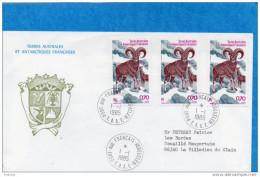 MARCOPHILIE-lettre  Avion-TAAF-cad 1ja 1985 Cad  Port Auxfrançais-3 Timbres A86 -pour Françe - Terres Australes Et Antarctiques Françaises (TAAF)