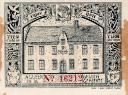 Brecht 1915 - Vrije Bon - Hulp En Voedingskomiteit  Tien Centiemen - Vieux Papiers