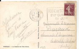 FOIRE DE BORDEAAUX 2ème QUINZAINE DE JUIN Sur N° 189 Du 27 VIII 1930 - Marcophilie (Lettres)