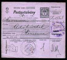 A3625) Ungarn Hungary Postanweisung 30 K Von Utozas 17.5.1919 - Ungarn