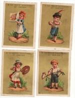 CHROMO A La Belle Jardinière Au Creusot Bognard Fille Garçon Skating Patins à Roulettes Pipe Fleurs Peinture Verre (6 C - Cromos