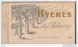 CARNET COMPLET DE 12 CPA DE HYERES DANS LE VAR - Hyeres