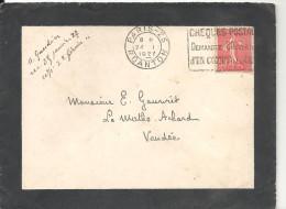 CHEQUES POSTAUX DEMANDEZ L´OUVERTURE D´UN COMPTE COURANT Sur N°199 Du 24-1-1927 Paris R Danton - Marcophilie (Lettres)