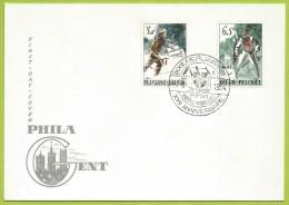 Belgique 1964 1296 à 1297 FDC Résistance Libération Bataille Bastogne Char Estuaire Escaut Brigade Piron - FDC