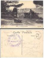 Nice, Le Canon Du Château, Cachet Militaire Au Verso : Les Parrains De Reuilly - Nice