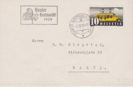 SUISSE  1939 LETTRE DE BALE  OBL THEME CARNAVAL - Svizzera