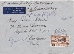 SUISSE  1938 LETTRE DE BALE POUR CUBA - Altri Documenti