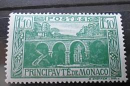 Timbre Neuf MONACO 1924 Yt 97 : 1f10 Vert Pont Ste Dévote - Neufs