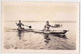CP Photo Jeunes Piroguieres Revenant Du Marché    Collection G. LABITTE - Dahomey