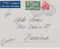 SUISSE  1940 LETTRE DE LUGANO POUR BARCELONE - Altri Documenti