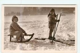 VILLARD De LANS - SPORTS D' HIVER : Luge Et Skis Chez Les Enfants - 2 Scans - Villard-de-Lans