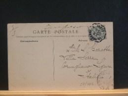 57/403     CP  FRANCE  OBL.  PARIS EXPOSITION  1900 - Marcofilie (Brieven)
