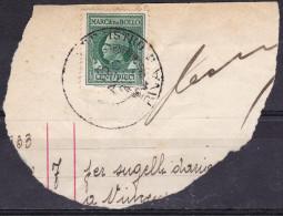 Regno D'Italia - 10c Marca Da Bollo, Su Frammento - Usato° - 1861-78 Vittorio Emanuele II
