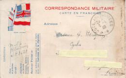 """Carte Correspondance Militaire """"Poste Aux Armées"""" 1940 Adessée à Quimper - 1939-45"""