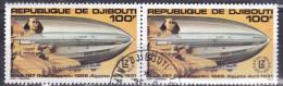Gibuti, 1980 - 100fr Graf Zeppelin, Coppia - Nr.C138 Annullo I° Giorno - Gibuti (1977-...)