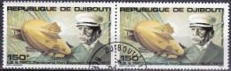 Gibuti, 1980 - 150fr Graf Zeppelin, Coppia - Nr.C139 Annullo I° Giorno - Gibuti (1977-...)