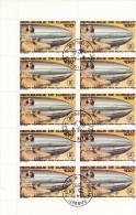 Gibuti, 1980 - 100fr Graf Zeppelin, Blocco Di 10 - Nr.C138 Annullo I° Giorno - Gibuti (1977-...)