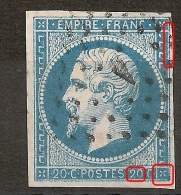 Variétés Sur N° 14 + LOSANGE A De PARIS. - 1853-1860 Napoleon III