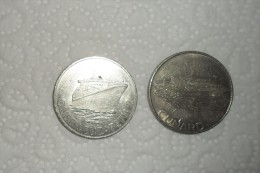 Lot De 2 Médailles / Bateaux Anglais(Londres) En TTB/ 38mm - Jetons & Médailles