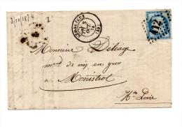 FRAGMENT DE LETTRE DE BEDARIEUX POUR MONISTROL DU 03/10/1874 - 1849-1876: Periodo Clásico