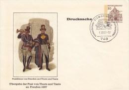 PU 23/8   Übergabe Der Post Von Thurn Un Taxis An Preußen 1867, Sigmaringen - BRD