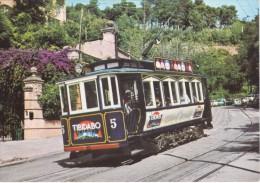 Nº 1 POSTAL DE BARCELONA DEL TRANVIA BLAU DEL TIBIDABO  (TREN-TRAIN-ZUG) AMICS DEL FERROCARRIL - Tranvía