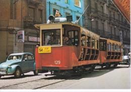 Nº 12 POSTAL DE UN TRANVIA EN LA CALLE ROGENT DEL AÑO 1970 (TREN-TRAIN-ZUG) AMICS DEL FERROCARRIL - Tranvía