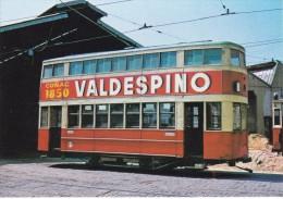 Nº 13 POSTAL DE UN TRANVIA DE BARCELONA EN COTXERA DE VILANA (COÑAC VALDESPINO)  (TREN-TRAIN-ZUG) AMICS DEL FERROCARRIL - Tranvía