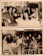 Carte Photo Originale Famille - Repas De Famille En 1958 - 2 Photos - - Personnes Identifiées