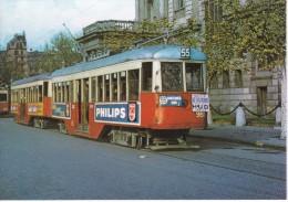 Nº 19 POSTAL DE UN TRANVIA DE BARCELONA EN P. PALAU AÑO 1963 (PHILIPS)(TREN-TRAIN-ZUG) AMICS DEL FERROCARRIL - Tranvía