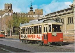 Nº 20 POSTAL DE UN TRANVIA DE BARCELONA EN P.MARTINEZ ANIDO AÑO 1963-AGUA IMPERIAL(TREN-TRAIN-ZUG) AMICS DEL FERROCARRIL - Tranvía