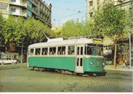 Nº 21 POSTAL DE UN TRANVIA DE BARCELONA EN CONSELL DE CENT DEL AÑO 1964(TREN-TRAIN-ZUG) AMICS DEL FERROCARRIL - Tranvía