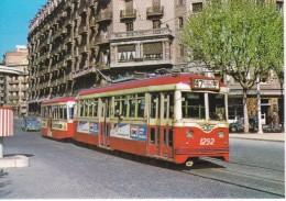 Nº 22 POSTAL DE UN TRANVIA DE BARCELONA EN CALLE ROSELLO DEL AÑO 1964 (TREN-TRAIN-ZUG) AMICS DEL FERROCARRIL - Tranvía
