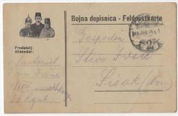 K.u.k. Austro-Hungary WWI Feldpostkarte Bojna Dopisnica Fieldpostcard Travelled 1916 X 2 Bb151228 - Militaria