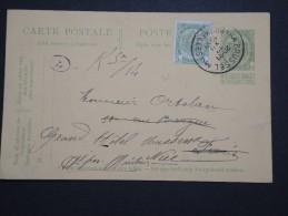 BELGIQUE - Perforé ADC Sur Armoirie Sur Entier Postal Commercial Pour La France En 1910 - A Voir - Lot P14575 - Perfins