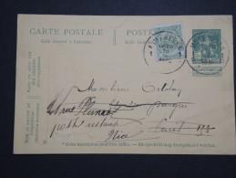 BELGIQUE - Perforé ADC Sur Armoirie Sur Entier Postal Commercial Pour La France En 1912 - A Voir - Lot P14576 - Perfins
